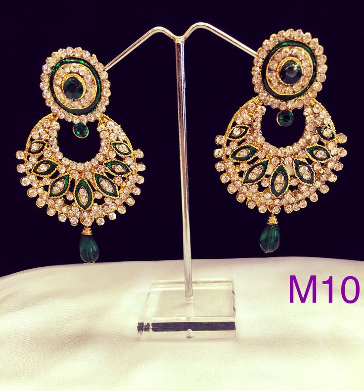 Circular loop green Color earring. Various other colours available