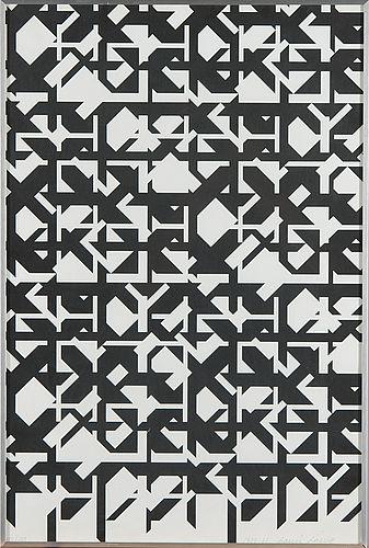 Lauri Laine, Litografia kansiosta 6 konkreta, 1981, 60x40 cm, edition 100 - Bukowskis Market 2016