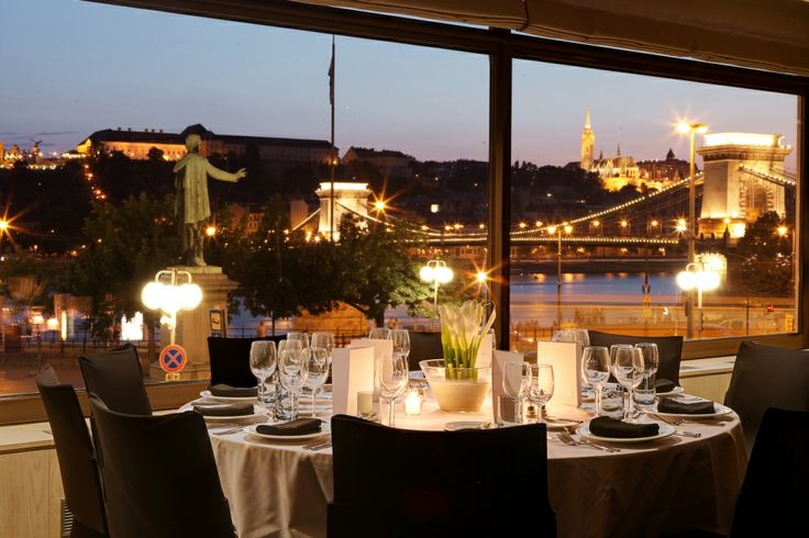 Bellevue room dinner set up at Sofitel Budapest Chain Bridge