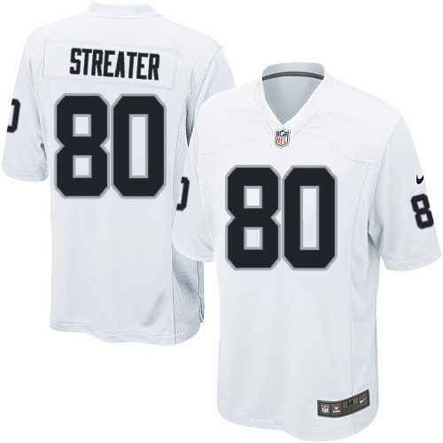 Youth Nike Oakland Raiders #80 Rod Streater Limited White NFL Jersey Sale