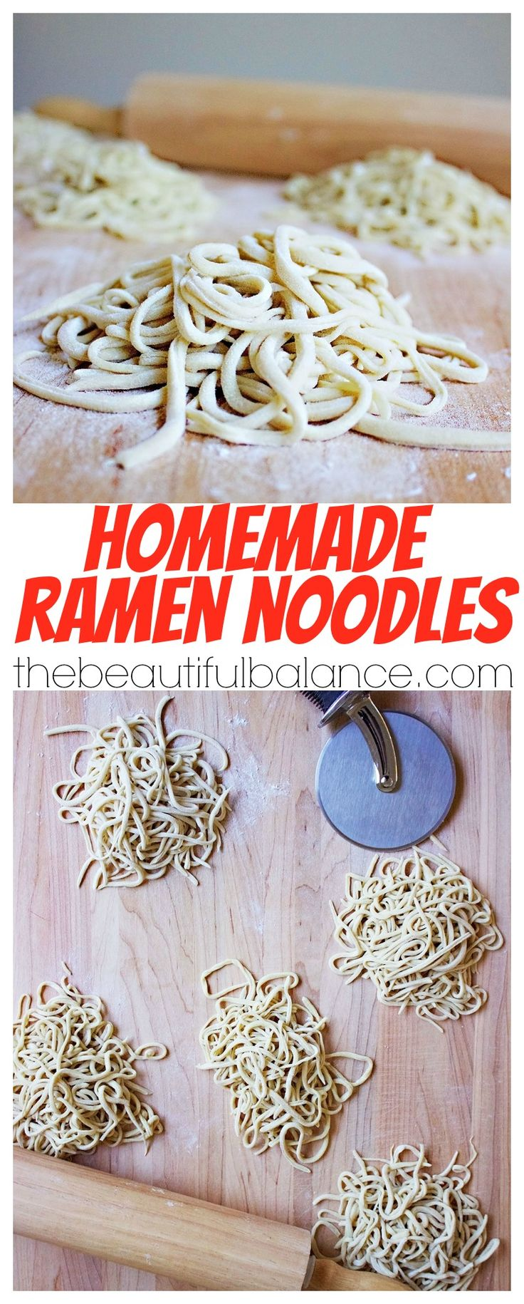 Using a staple ingredient that you are guaranteed to have on hand, homemade ramen noodles are extremely easy, fast, and delicious to make at home! | The Beautiful Balance