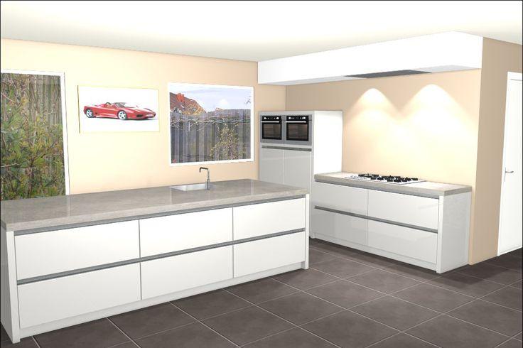 Ontwerp van keuken met kookeiland Eiland keukens Pinterest Van ...