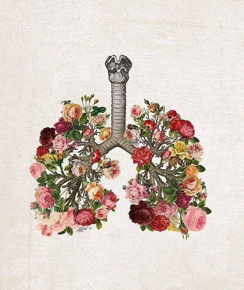 nature tattoo | lung tattoo | painting tattoo | color tattoo | tattoo ideas | tattoo inspiration | tattoo placement | ink | flowers tattoo | bouquet tattoo