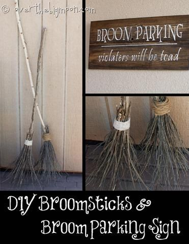 Diy Halloween Diy Make Your Own Witch Brooms And