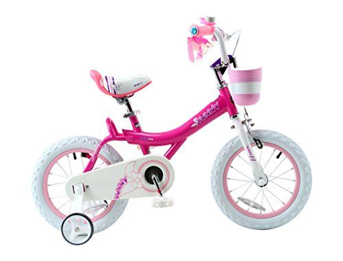 #GirlsGifts Royalbaby Bunny Girl's Bike, 14 inch wheels with basket and training wheels training wheels, gifts for kids, girls' bicycles,…