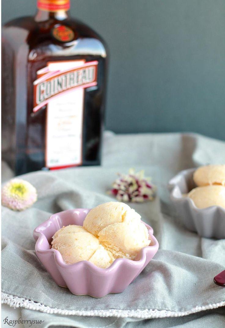 Cremiges Aprikosen Eis mit Cointreau (ohne Eismaschine)
