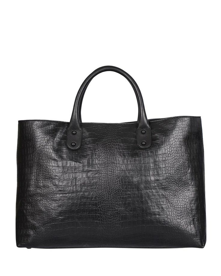 Silvio Tossi Embossed Leather Tote - Made In Europe