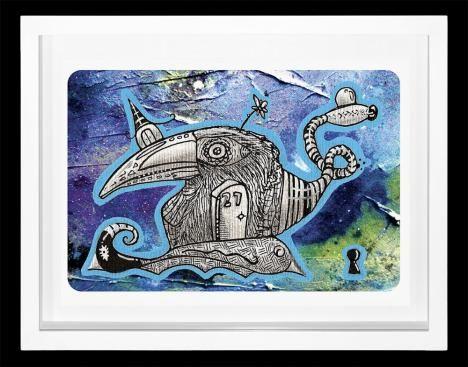 'Passaro tu no cano 27 vezes' de Conrado Zanotto - Veja outras obras deste artista em nossa galeria de arte online - http://tintaed.com/arte-detalhes.php?cod=59=11=Categorias=P%C3%A1ssaro+tu+no+cano+27+vezes
