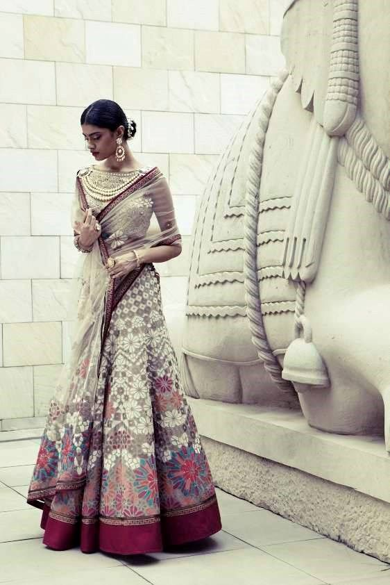 That Lehenga is just perfect! | Tarun Tahiliani | The Trousseau, a bridal fashion and wedding style blog | www.thetrousseau.in | #trousseau #traditional