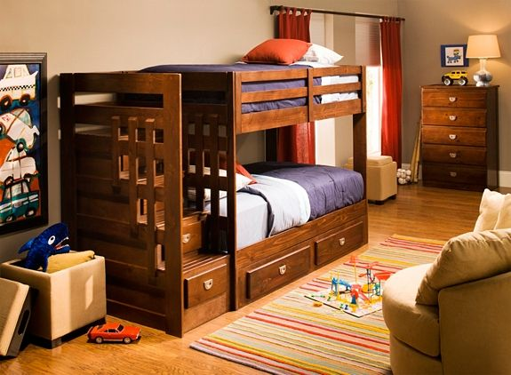 Tommi Ii Twin Over Twin Step Storage Bunk Bed Bunk Beds Raymour And Flanigan Furniture