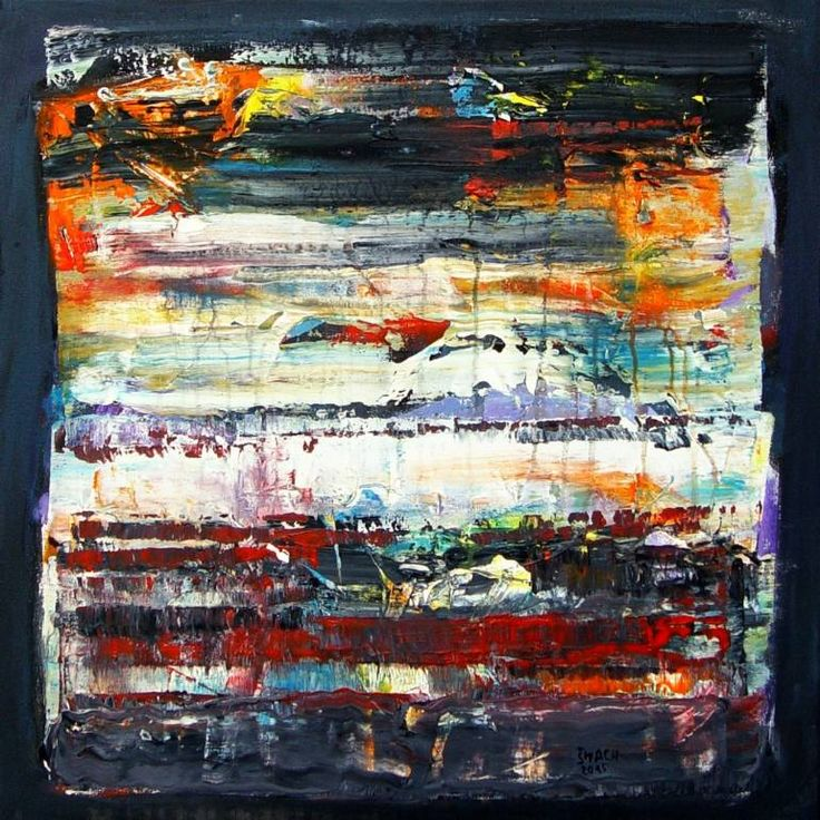 Composition OC853, a Acrylic on Canvas by Radek Smach from Czech Republic. It portrays: Abstract, relevant to: positive, structure, energy, abstract, landscape, layered, nature Original abstract painting on canvas.  Ready to hang.  No framing required (it can be framed).
