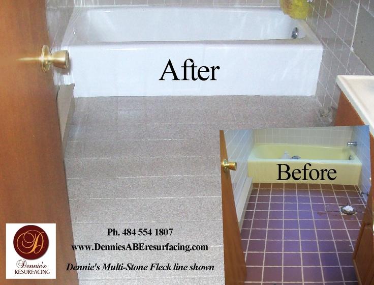 Bathtub Reglazing And Floor Tile Resurfacing Multi Stone
