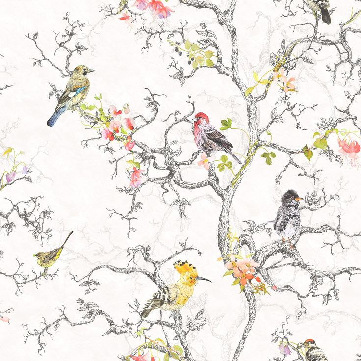 Statement Ornithology Metallic Effect Wallpaper | Departments | DIY at B&Q Possible dining room paper