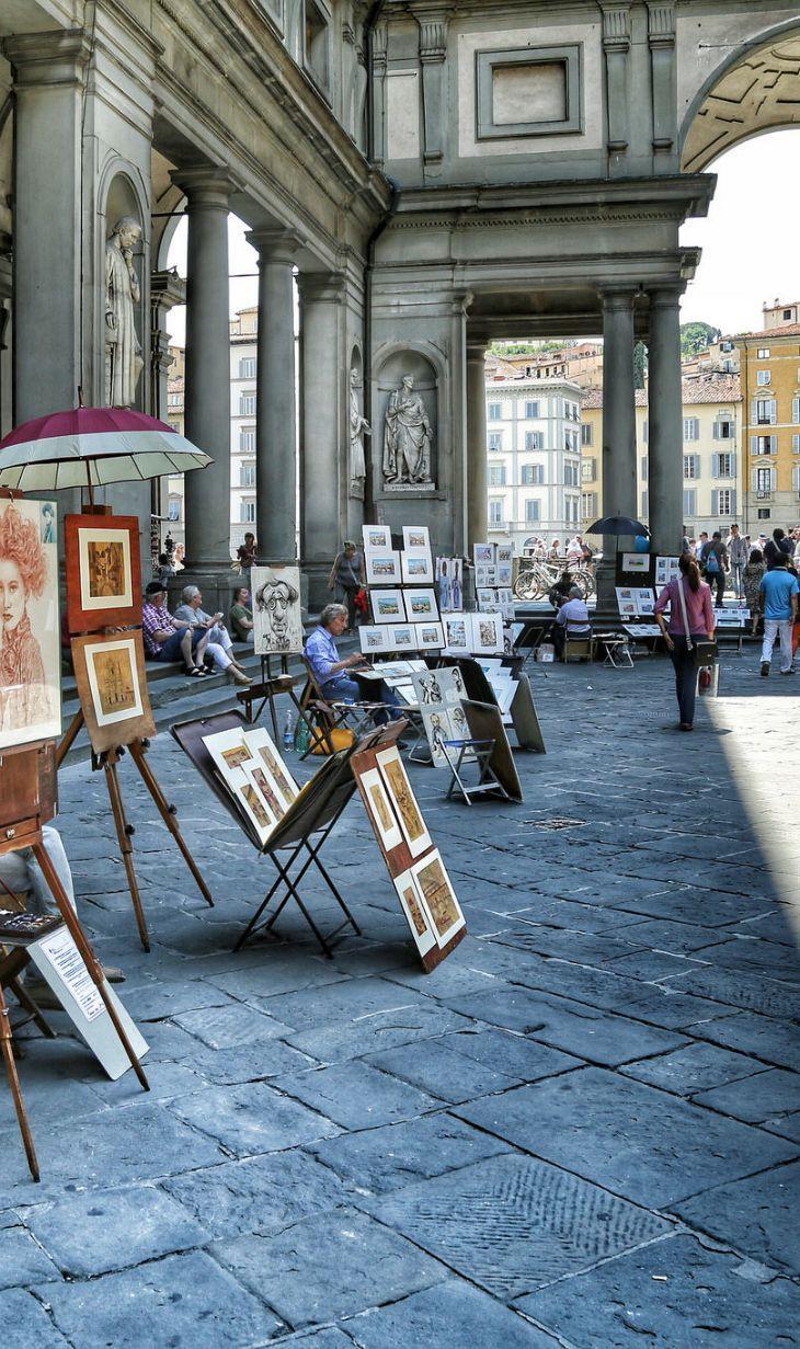 Artistas en #Florencia http://www.florencia.travel/ #turismo #viajar #Italia #Firenze