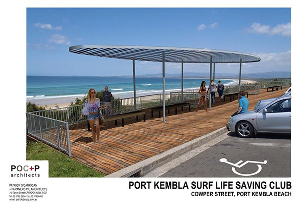 Proposed urban interventions in littoral zone at 3 sites:a: new boardwalk between Coalcliff and Stanwell Park involving re-alignment of the Lawrence Hargrave Drive, undergrounding of power, new recycled plastic boardwalk, new balustrading and interpreta…