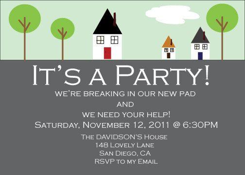 House Warming Party Invitation Invitation Wording Cute