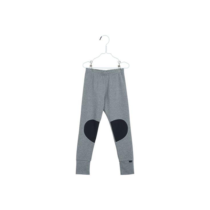 PATCH LEGGINGS, Melanged grey