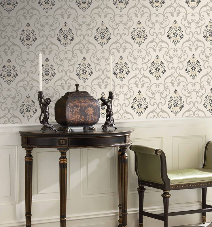 Yes! Absolutely GORGEOUS Designer Wallpaper By Motif by New Line Fabrics
