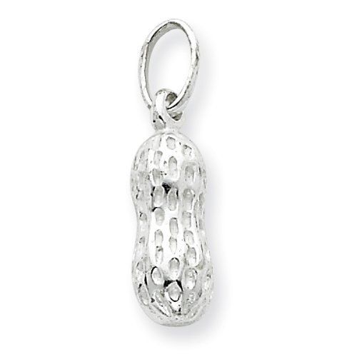 Sterling Silver Peanut Charm Real Goldia Designer Perfect Jewelry Gift goldia. $15.66