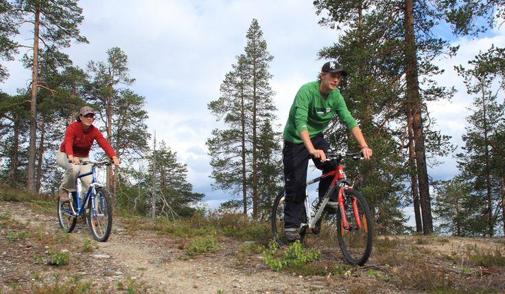 biking at Taivalvaara, Taivalkoski, Lapland, Finland www.taivalvaara.fi