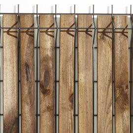 Lames d'occultation pour grillage soudé bois (x 40) h.120 cm