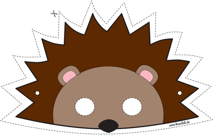 Download this mask here: http://it.piccolini.com/maschere-carnevale/2012/il-piccolo-riccio/