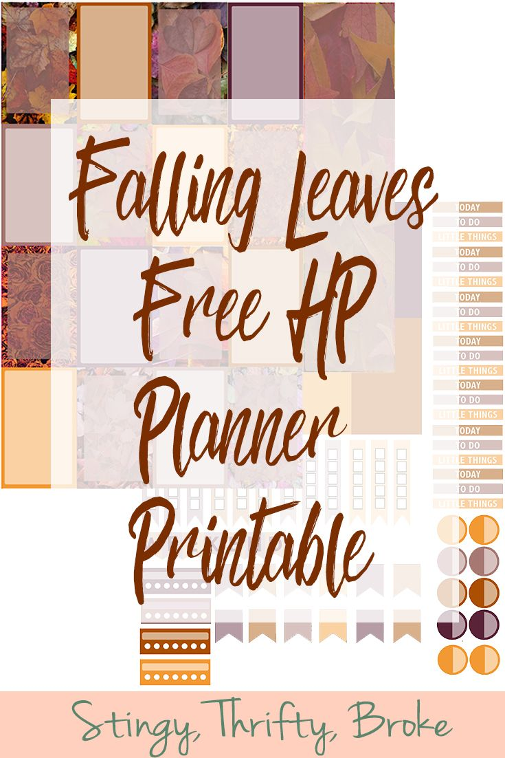 Falling Leaves Free Printable Planner Stickers