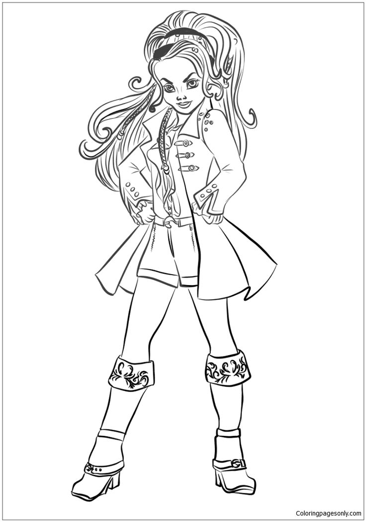 15 best descendants coloring pages images on pinterest