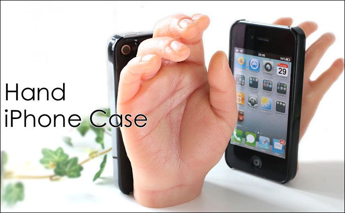 iPhone case shaped like a hand? Not creepy at all.