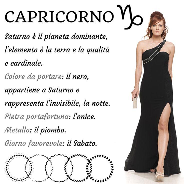 #Buon inizio settimana a voi!  Iniziamo il #lunedì con il segno zodiacale della settimana ... #Capricorno  #fashion #zodiac #blackdress #chic