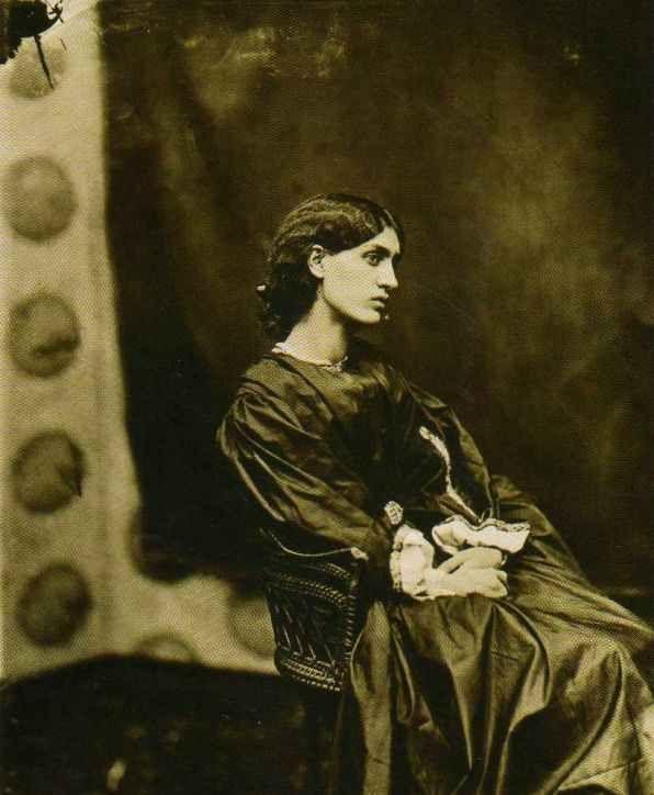 Jane Morris, wife of William Morris, and favorite model of artist Dante Gabriel Rossetti
