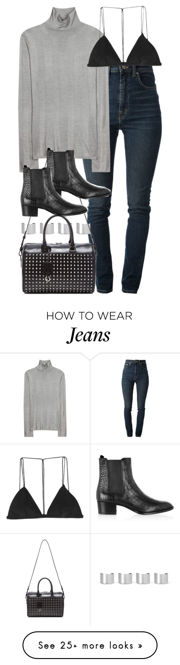 """Untitled #1689"" by sophiasstyle on Polyvore featuring Yves Saint Laurent, Maison Margiela, Balenciaga and Dion Lee"
