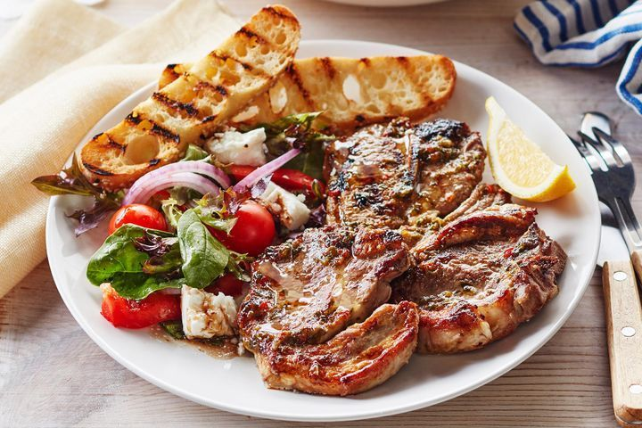 Mediterranean barbecued lamb chops