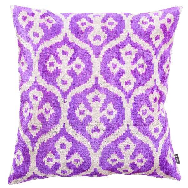 Ikat Kissen aus Samt - lila KHODAI - Handmade Carpets