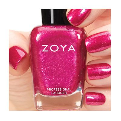 Zoya Nail Polish is a ultra long wearing toxin free nail polish and treatment. No formaldehyde, formaldehyde resin, toluene, dibutly ph Mae can be best described as a warm magenta pink with a microniz