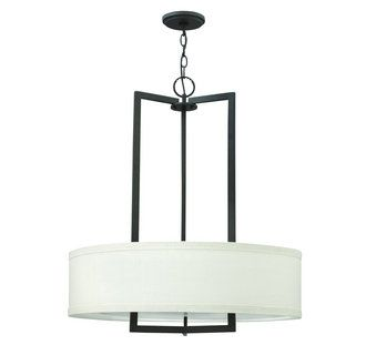 View the Hinkley Lighting 3204 3 Light 1 Tier Drum Chandelier from the Hampton Collection at LightingDirect.com.