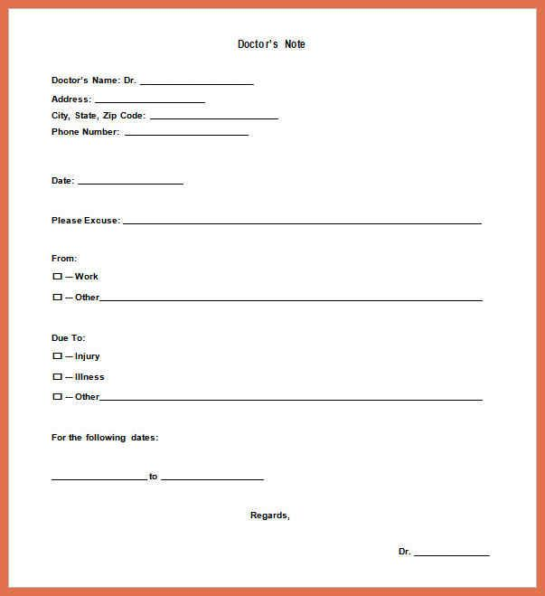 Urgent Care Doctors Note Template Doctors Note Template Doctors Note Notes Template