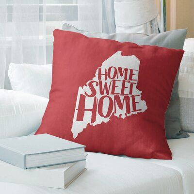 East Urban Home Home Sweet Throw Pillow Size: 18″ x 18″, Color: Gray
