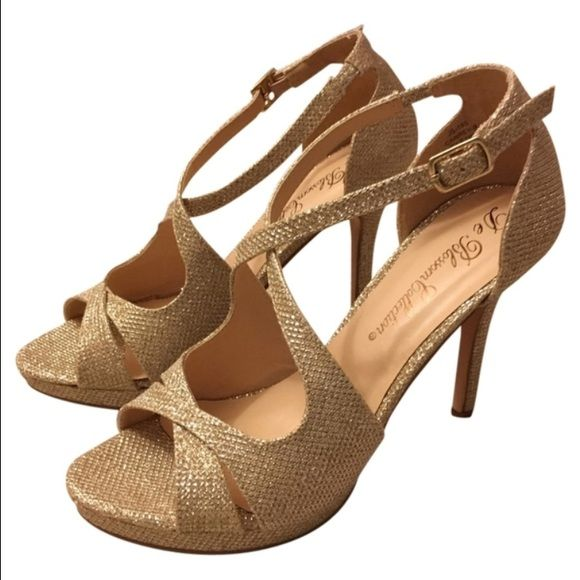 De blossom collection Shoes - De blossom collection nude shimmer heels
