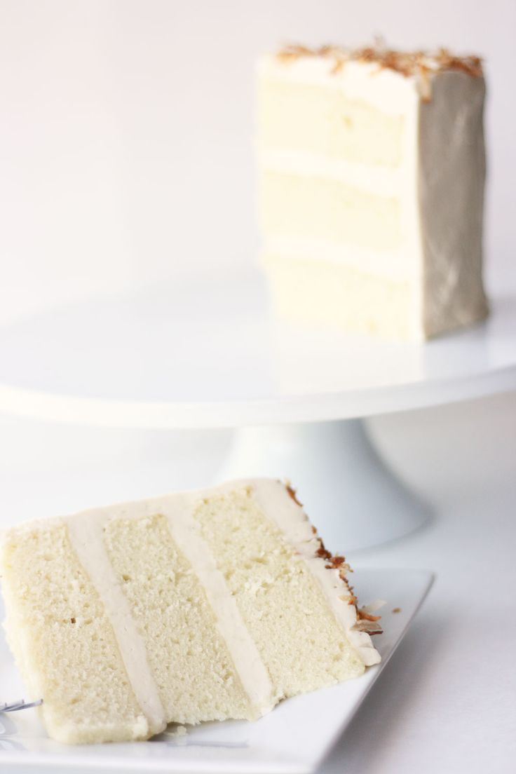 Super Moist Coconut Cake | Cake Paper Party  This recipe makes a super moist coconut cake that is far from the common cottony fluff of many coconut cake recipes. It has layers of coconut flavor and is not excessively sweet so it pairs beautifully with buttercream and a layer of toasted sweet coconut.