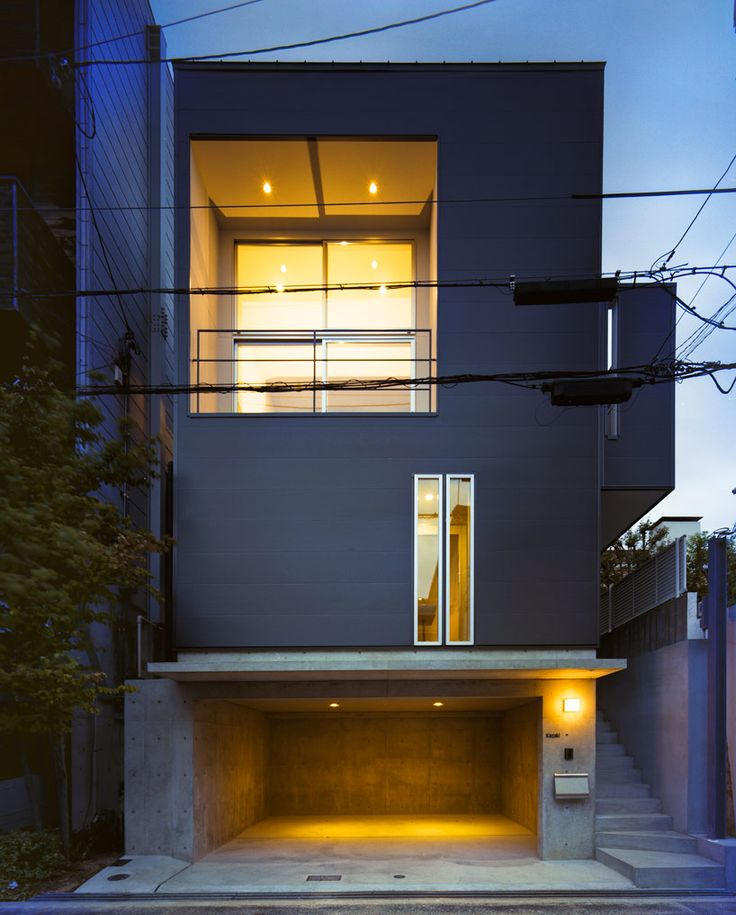 House in Konan is a minimalist home located in Kobe, Japan, designed by Coo Planning. The home sits atop a 23 sqm site, and is situated within a quiet residential neighborhood. Since the site is slightly elevated, the residence overlooks a beautiful view of the sea. The architects chose to include large windows throughout the home in order to promote the visual spectacles that surround the house.A section of the interior is lofted above the kitchen and living space. The structure sits on top…