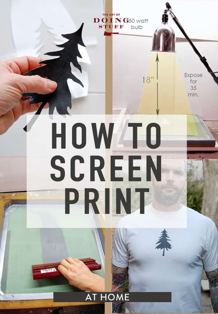How To Screen Print At Home Diy Screen Printing Screen Printing Screen Printing Designs