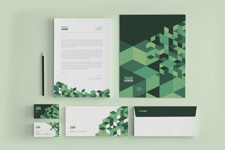 Cool Green Business Stationery
