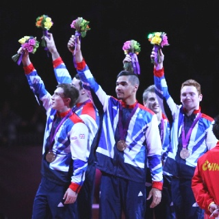 Great Britain Men's gymnastics team wins the team bronze medal! #London2012