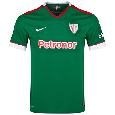 Athletic Bilbao 2014/2015 Away Shirt (Green). Available from Kitbag.com