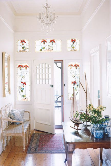 Beautiful and light filled - gorgeous stained glass.....i wish!