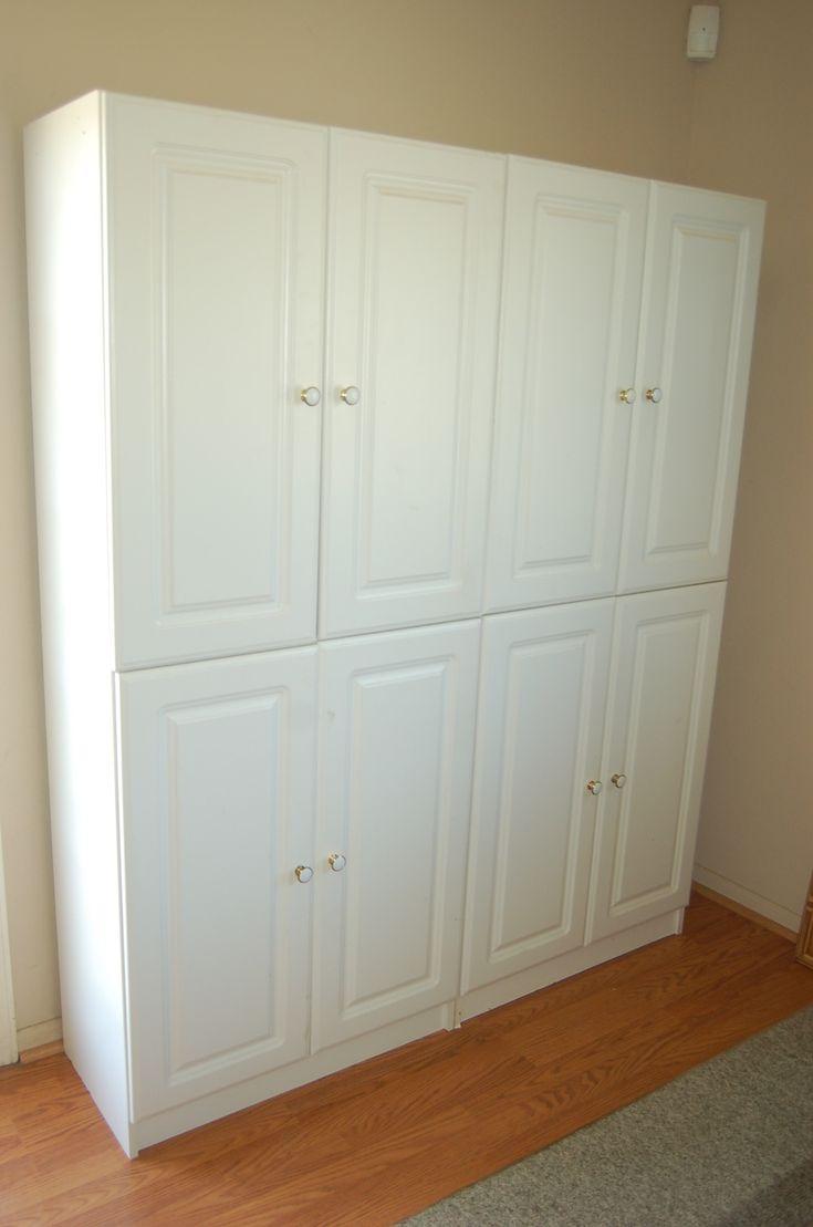 Kitchen Storage Pantry Cabinets  Quality White Kitchen