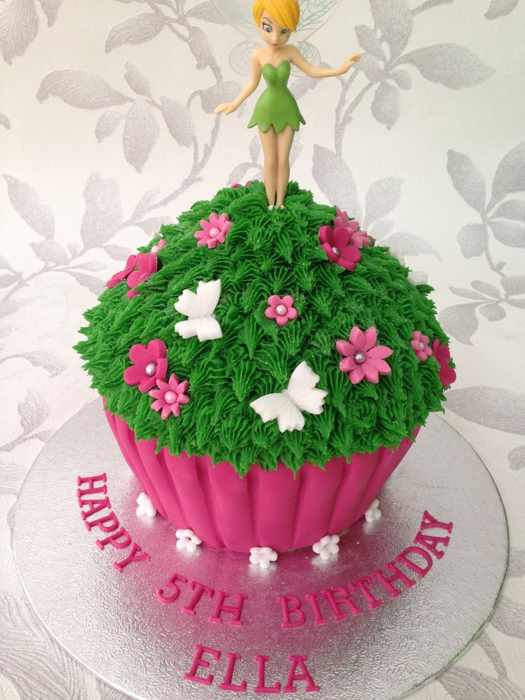 Tinkerbell giant cupcake