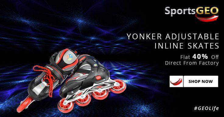 Yonker Adjustable Inline Skates: Flat 40% Off. Shop Now!