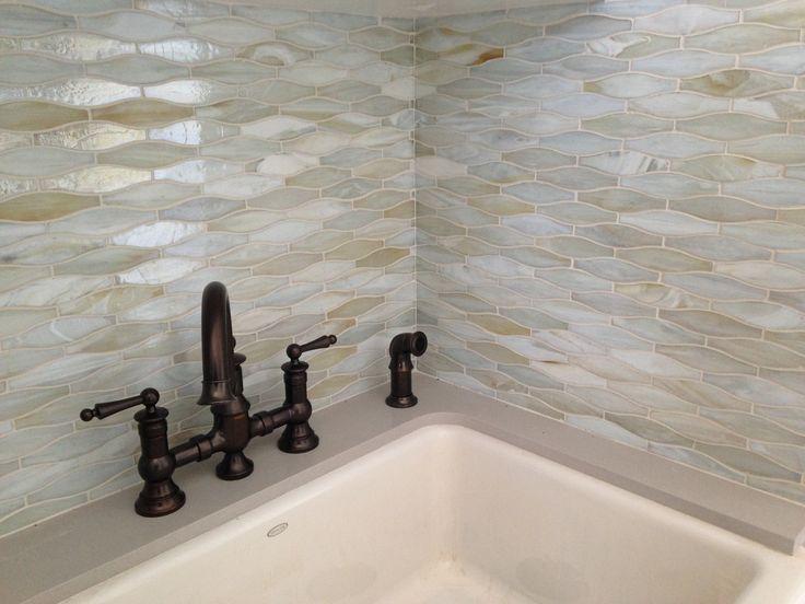 Glass mosaic Matte Pearl / exterior bathroom Traditional, contemporary modern wood porcelain /CTM Tile 310-379-7646 www.ctmdealer.com
